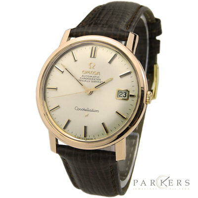 Omega Constellation Rose Gold Cap Vintage Automatic Wristwatch Dating Circa 1966