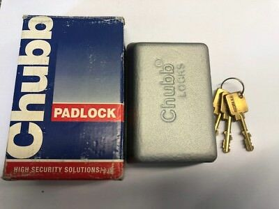 Chubb High Security Padlocks 1K57A Concealed Closed Shackle Hercules