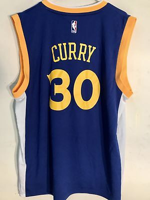 Adidas NBA Jersey Golden State Warriors Stephen Curry Blue Alt 3rd sz S d6e7e3d63