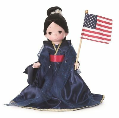 "Precious Moments Disney The Red, White and Blue Mulan 12"" Doll"