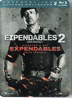 EXPENDABLES + EXPENDABLES 2  coffret collector metal 2 bluray  neuf  06031872