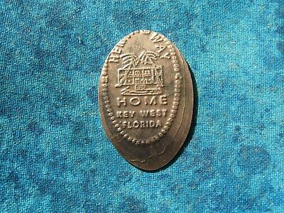 HEMINGWAY HOME KEY WEST FLORIDA COPPER Elongated Penny Pressed Smashed 18