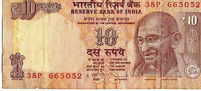 India 1996 10 Rupees Currency