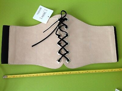 NEW LOOK RETRO VINTAGE style WIDE CORSET LACE UP BELT size Small MEDIUM BNWT NEW