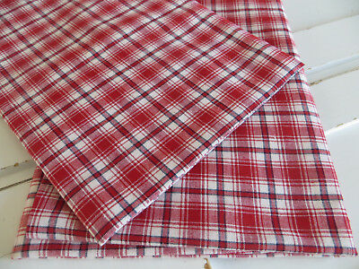 """Unused Set Of Two (2)  Red White Checked  Pillowcases Euro Shams 26 """" by 26 """""""