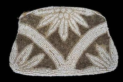 Vintage Purse Small Seed Bead Clutch Bag Deco 1930S Small Evening Bag