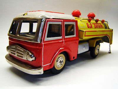 Tintoy Blechspielzeug, Oil Tanker, Friktion, MF 963, Made in China, 1960er Jahre