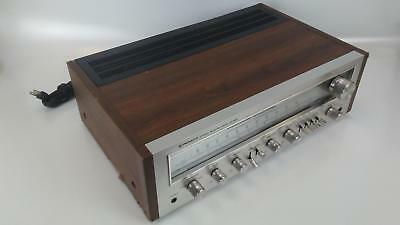 Vintage Pioneer SX-650 Stereo Receiver AM FM Tuner Aux-RCA In Wood Case TESTED