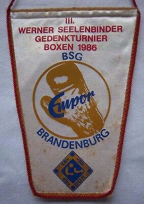 Orig.Wimpel   III.Internationales Turnier im Boxen  BRANDENBURG 1986  !!  SELTEN