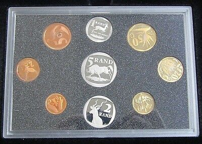 1995 South Africa 9-Coin Proof Set With Box & COA