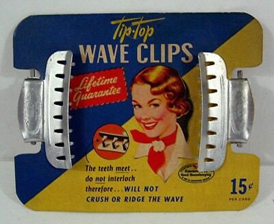 Old Tip Top Wave Clips On Card Tip Top Prod Omaho Neb Old Unsold Store Stock