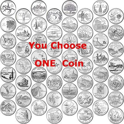 1999 - 2009 State Quarter - Any ONE Coin - Territories P Uncirculated Statehood