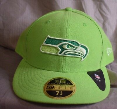 NEW ERA 59FIFTY Mens NFL Seattle Seahawks Fitted Hat Cap New 7 3 4 ... 23f0e497ae29
