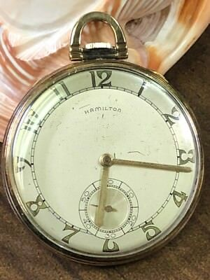 Hamilton Gold Filled Open Face Pocket Watch