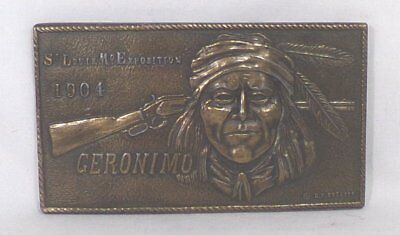 Geronimo 1904 St. Louis Expo Belt Buckle A-37
