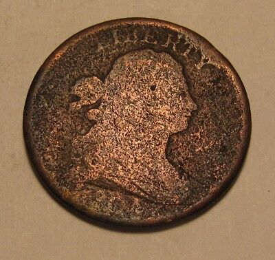 1804 Draped Bust Half Cent Penny - Corroded Condition - 53FR
