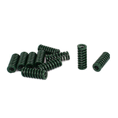 8mm OD 20mm Long Heavy Load Stamping Compression Mould Die Spring Green 10pcs