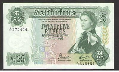 MAURITIUS   25 RUPEES ND 1967  P 32b   UNCIRCULATED   Prefix  A/15