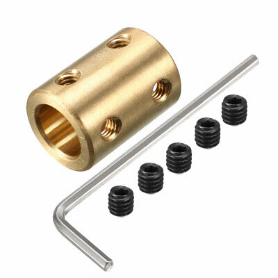 10mm to 10mm Copper DIY Motor Shaft Coupling Joint Adapter for Electric Car Toy