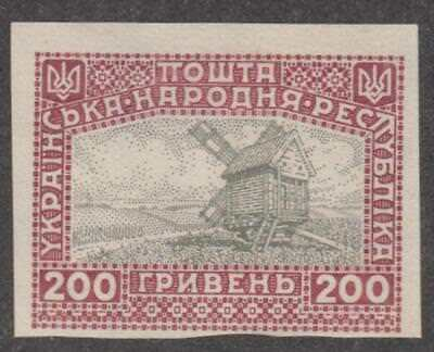 Ukraine 1920 200h Unissued Imperf Windmill