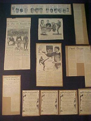 OLD ~FOOTBALL PLAYER SPORTS ARTICLES LOT~ ANTIQUE PAPER PRINT Clippings 1920s