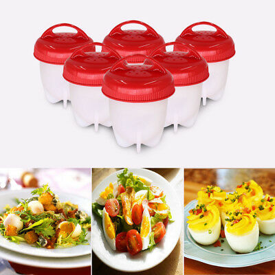 Egglettes Egg Cooker Hard Boiled Eggs without the Shell Silicone Egg Cups Tool