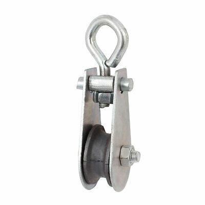 0.03T 66.1Lbs Metal Lifting Crane Pulley Block Hanging Wire Towing Wheel
