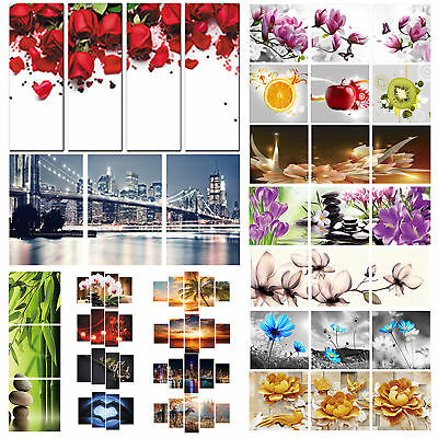 Unframed Flowers Modern Art Canvas Oil Paintings Picture Print Home Wall Decor