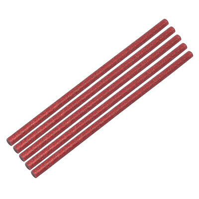 5pcs 7mm x 200mm Economy Hot Melt Glue Sticks Red for DIY Small Craft Projects
