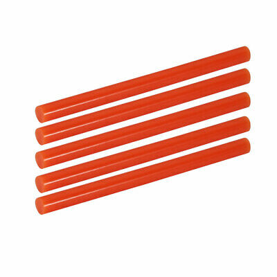 5pcs 7mm Dia 100mm Long Hot Melt Glue Adhesive Stick Orange