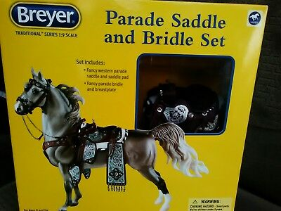 Breyer Traditional Series 1:9 Scale PARADE SADDLE AND BRIDLE SET NEW NRFB!