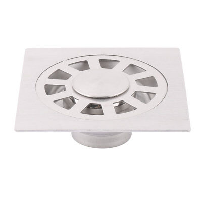 Kitchen Stainless Steel Floor Drain Cover Strainer Garbage Stopper Silver Tone