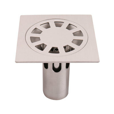 Family Bathroom Kitchen Stainless Steel Floor Drain Cover Strainer Hair Stopper