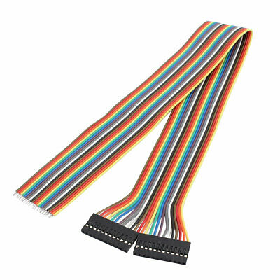 2Pcs 12P Jumper Wire Single Female Head Ribbon Cable Pi Pic Breadboard 40cm Long