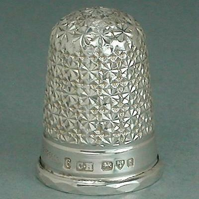 Rare Mint Antique Rd Sterling Silver Thimble by Charles Horner * Hallmarked 1903