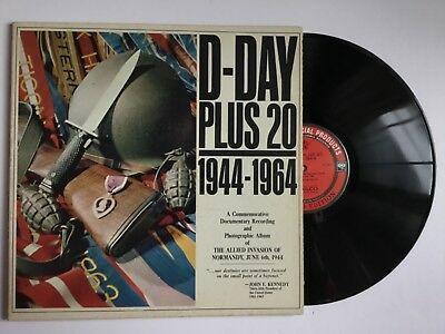 D-Day Plus 20 1944-1964 LP & Booklet~Normandy Invasion June 6th 1944 WWII+bonus