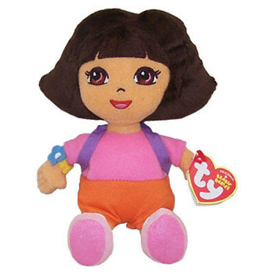 TY Beanie Baby - DORA the Explorer (Plush Hair) (8 inch) - MWMTs Stuffed Animal