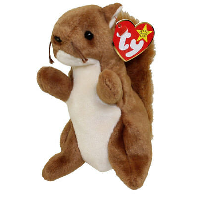 TY Beanie Baby - NUTS the Squirrel (5.5 inch) - MWMTs Stuffed Animal Toy