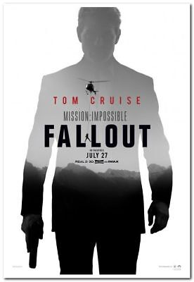 MISSION IMPOSSIBLE: FALLOUT -2018- Original 27x40 ADV movie poster- TOM CRUISE