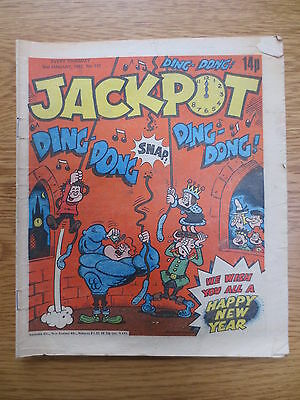 Jackpot Vintage Old UK Paper COMIC  2 January 1982  Birthday Gift #137
