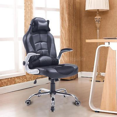 Adjustable Racing Office Chair PU Leather Recliner Gaming Computer S6Z5