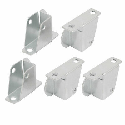 uxcell/® 4Pcs One Section Slide Sliding Connector Jointer Fixing Bracket Silver Tone