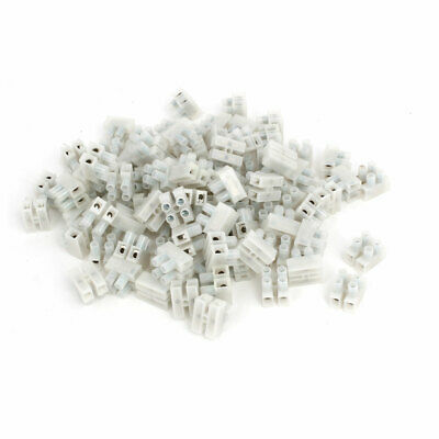 PA8-2P 450V H Type Screw Terminal Blocks Strips Wire Cable Connectors 100pcs