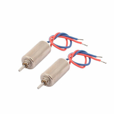2Pcs DC 1.5-3V 10000RPM 2 Wires Electric Micro Coreless Motor for RC Model Toys