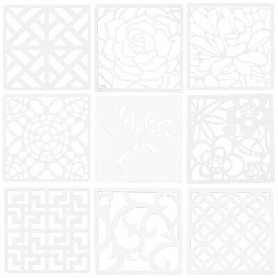 Household Hollow Out Room Divider Panel Hanging Screen Curtain White 29cm x 29cm