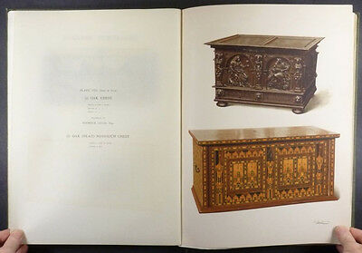 Antique English Oak Furniture - 1904 Book - with Full-Page Color Illustrations