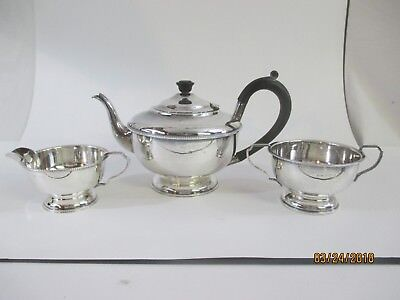 AL DENNISON STERLING SILVER ENGLISH TEAPOT SET c.1931
