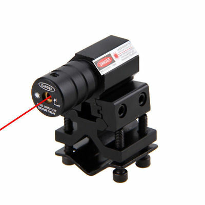 Tactical Red Laser Beam Dot Sight Scope 20mm Rail Barrel Mount For Hunting