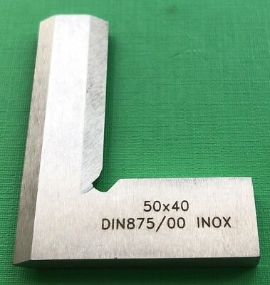 50 x40mm Precision Bevel Edge Square Grade 00 Stainless