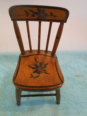Antique 1870 Stencil Doll Chair